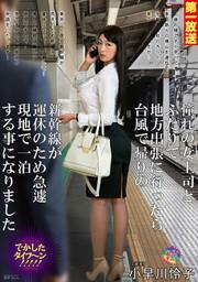 憧れの女上司とふたりで地方出張に行ったら台風で帰りの新幹線が運休のため急遽現地で一泊する事になりました 4 小早川怜子